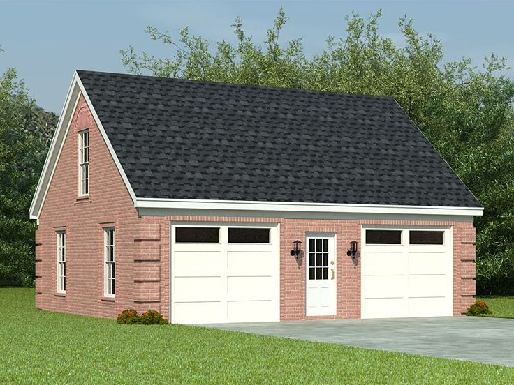 2-Car Garage Loft Plan With Split