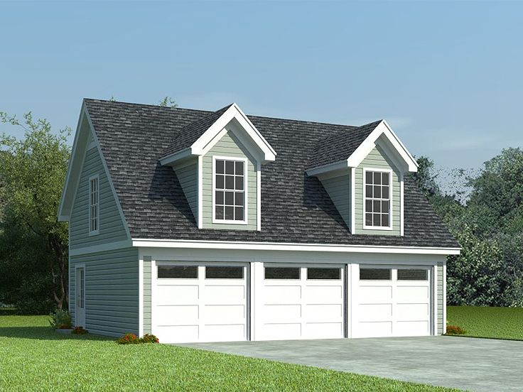 3-Car Garage Loft Plan With Cape Cod