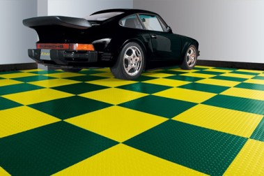 Green and Gold Peel and Stick Floor Tiles