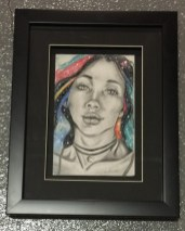 """Laura Thornton """"Space Hair Don't Care"""" $80 SOLD"""