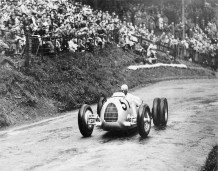 Hans Stuck at Shelsley Walsh in June of 1936 Photo MAC Archive.