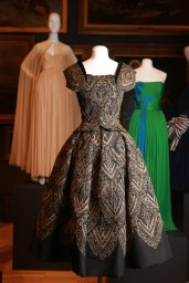 Christian Dior, Paris fashion house France est. 1946 Christian Dior designer France 1905–Italy 1957 Evening dress (Mexico) 1954 autumn–winter silk (faille, velvet), metallic thread, sequins The Dominique Sirop Collection National Gallery of Victoria, Melbourne