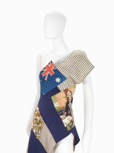 MICHELLE JANK, Australia (fashion house); Michelle JANK (designer) Federation dress 2001 (detail) cotton, metal, found objects 107.0 cm (centre back) 34.5 cm (waist, flat) National Gallery of Victoria, Melbourne Purchased, 2003