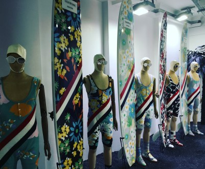 The Thom Browne menswear display has its own room.