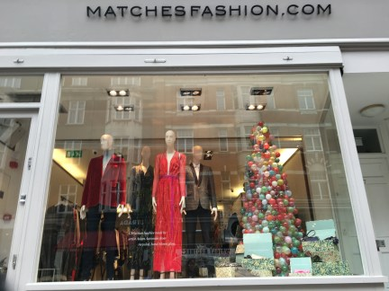 Christmas windows at Matches Fashion