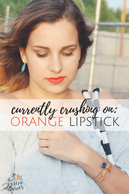 currently crushing on: orange matte lipstick by pop beauty!