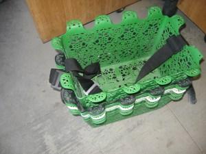 Even the shopping baskets were unique