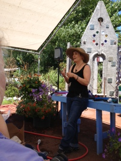 This is Annie giving a talk about her nursery