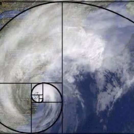Hurricane Sandy Fibonacci spiral