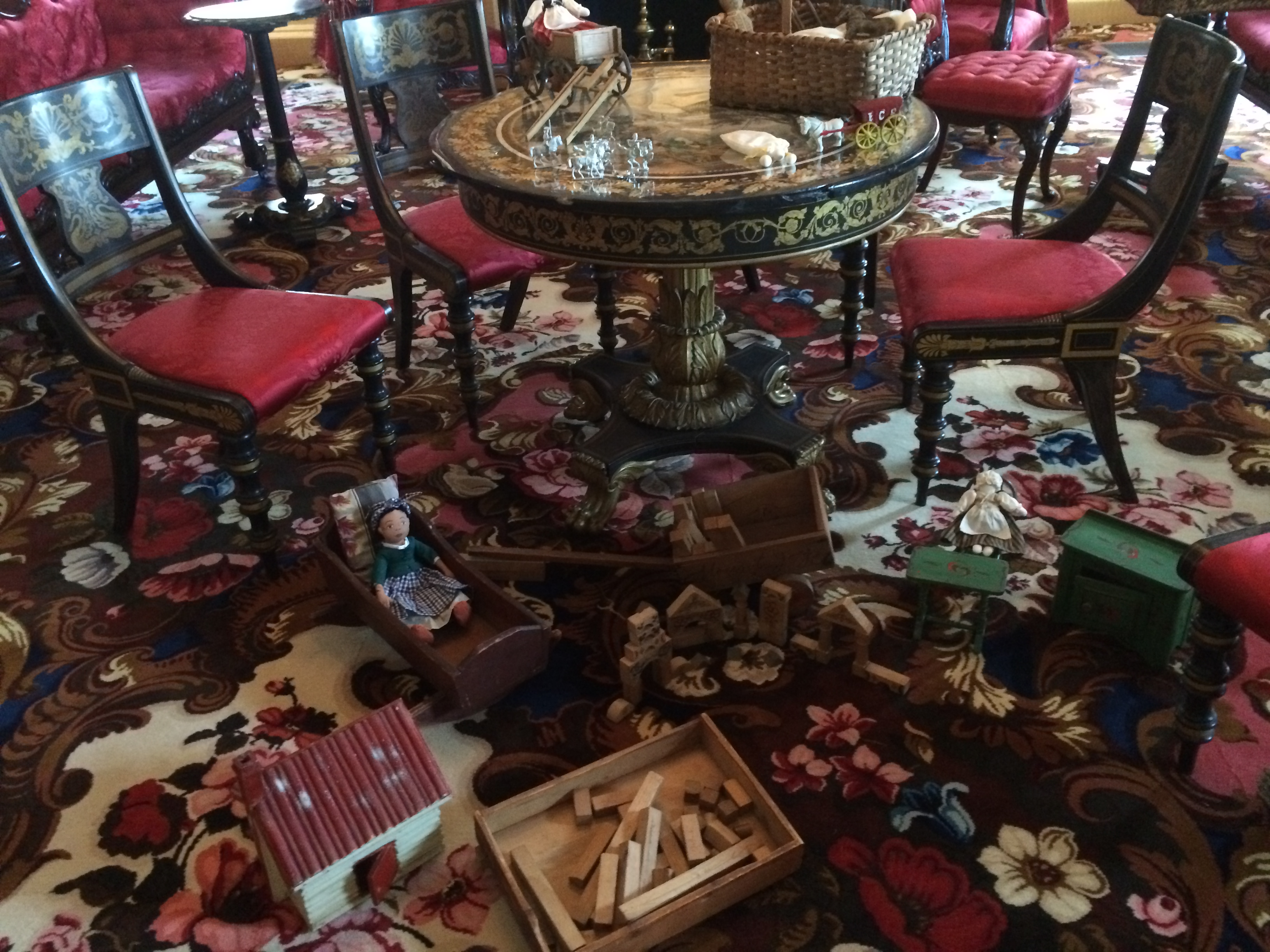 Toys in sitting room