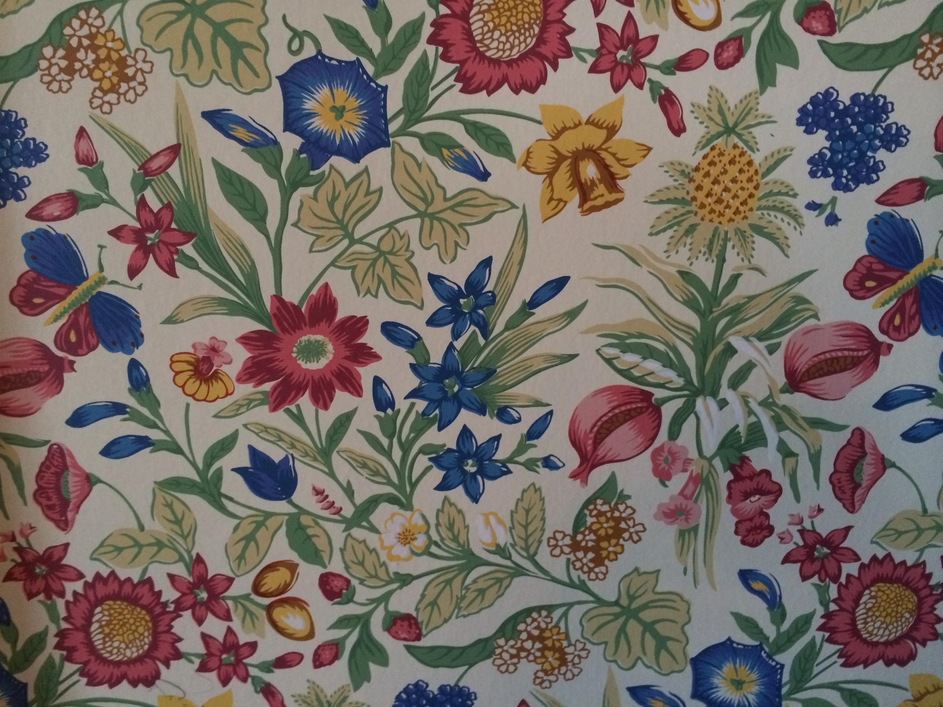 Closeup of wall paper