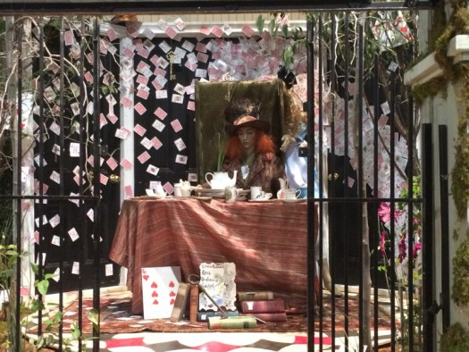 Alice in Wonderland at the Mad Hatters Tea Party