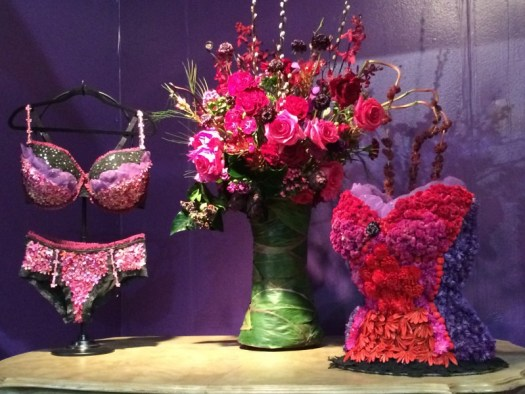 I loved this storefront of underwear made of flowers!