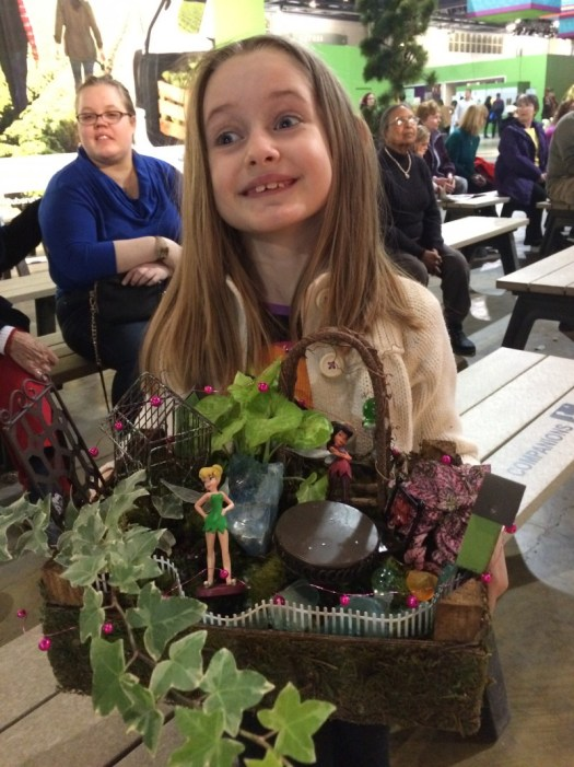 My helper created a complete fairy setting  and took it home to enjoy