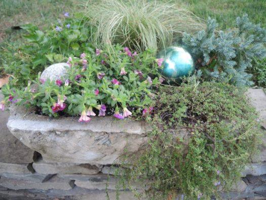Planted hypertufa