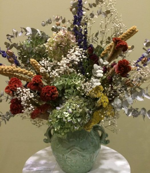 Dried flower arrangements last for months