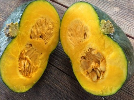 Kaboucha squash has a nutty taste