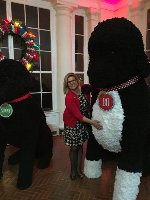 Mandy Barkley did all the mantels of the White House this year