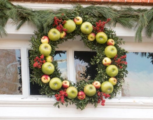 Apples are used extensively in wreaths