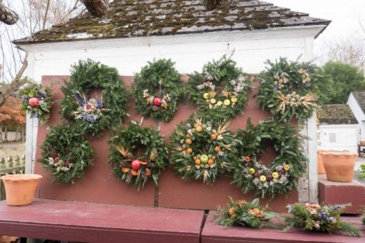 You can buy your own authentic Williamsburg wreath in the Historic Area