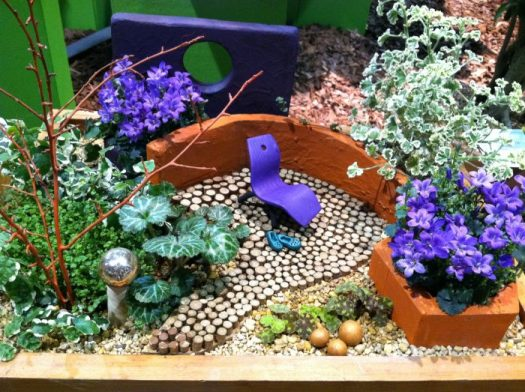 Miniature garden seen at Philadelphia Flower Show