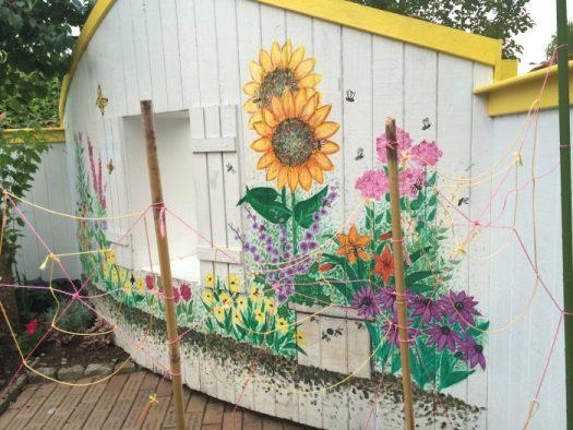 Potting sheds become a canvas for artwork