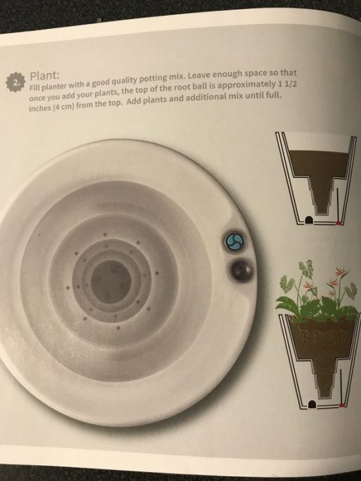 Cross section of a planter