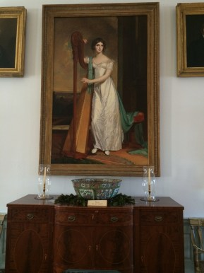 Eliza Ridgely portrait in hall
