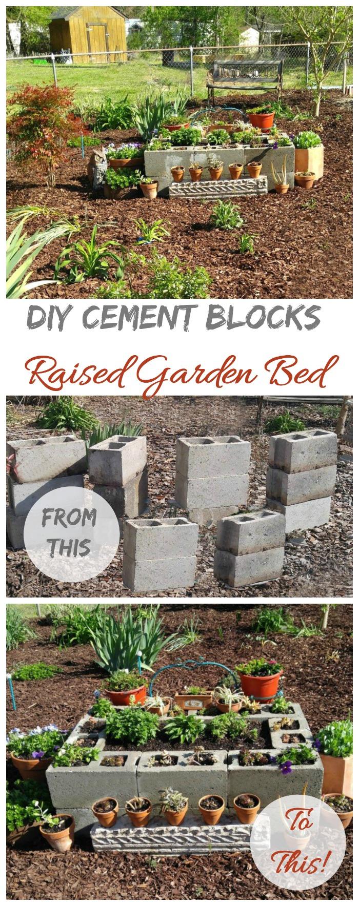 Decorative Blocks Raised Garden Bed
