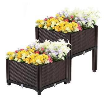 vivohome elevated plastic raised garden bed