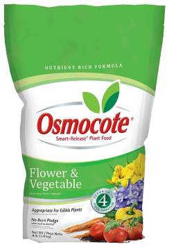 Osmocote flower and vegetable plant food garden fertilizer