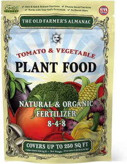 old farmers almanac vegetable fertilizer