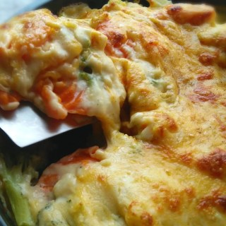 Three Cheese Vegetable Bake