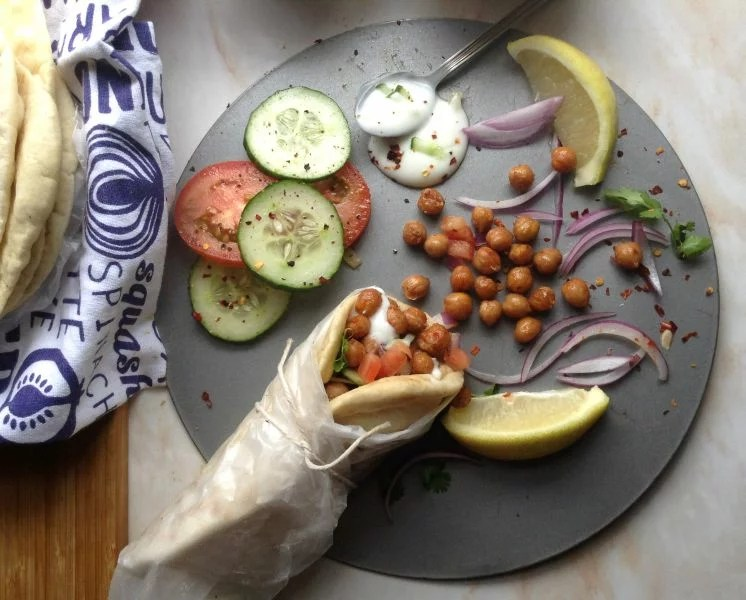 Spicy Roasted Chickpea Shwarmas