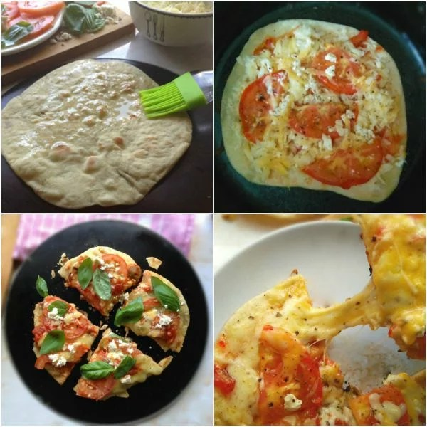 Stove top Flatbread pizza