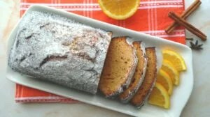 SPICED ORANGE AND HONEY LOAF CAKE