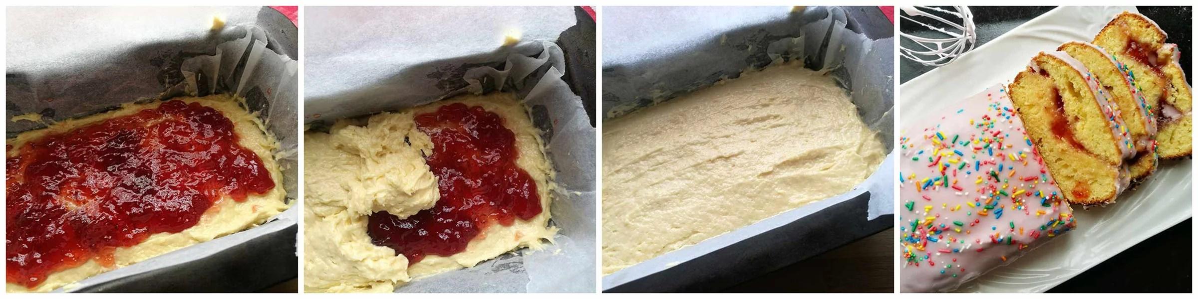 Glazed Strawberry Jam Loaf