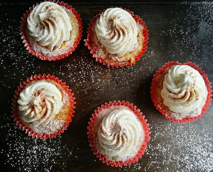 One Bowl Carrot Cupcakes