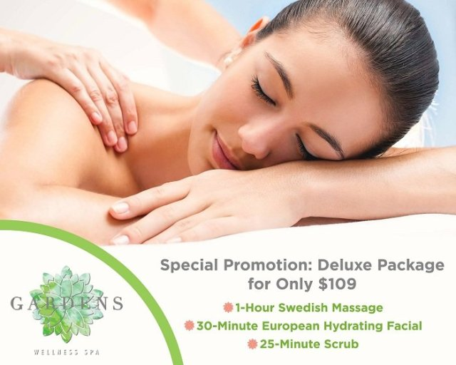 Day Spa Specials at The Gardens Wellness Spa in Orange, California