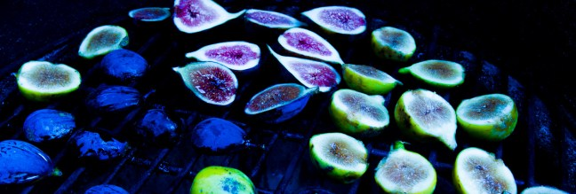 Grilled Figs with Creme Fraiche and Chestnut Honey-19