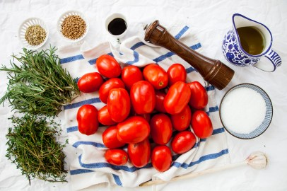 Slow-Roasted Plum Tomatoes with Herb Salt-4