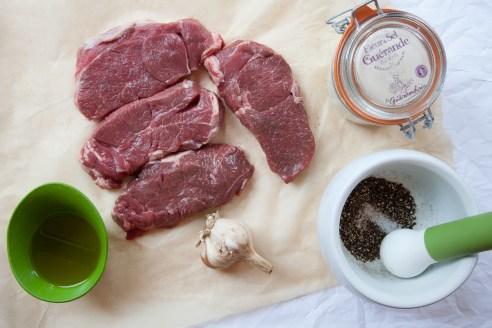 Lamb Steaks with Herbs and Caramelized Garlic-3