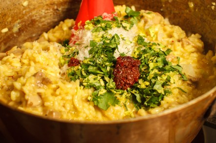 Turkey Risotto with Saffron and Preserved Lemon-10