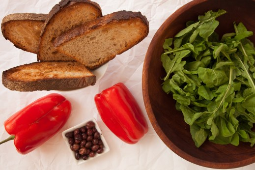 Brandade with Peppers, Olives and Arugula-4