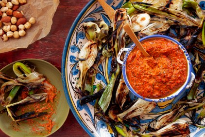 Grilled Spring Onions with Romesco TGF-29