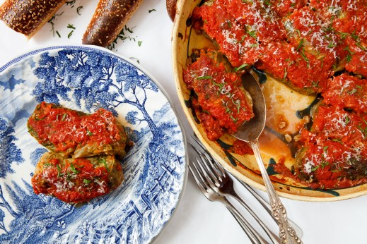 Stuffed Cabbage with Farro, Mushrooms and Chicken Livers-2-10930