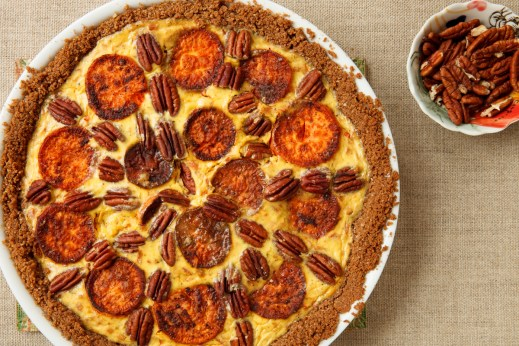Sweet Potato and Gruyère Pie with Pecans-13163