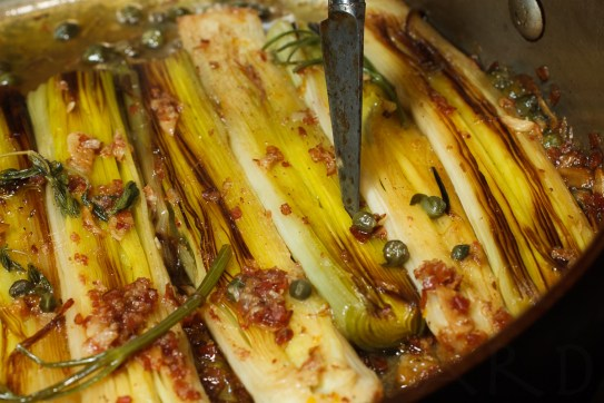 Braised Leeks with Meyer Lemon, Pancetta and Parmigiano Reggiano -26