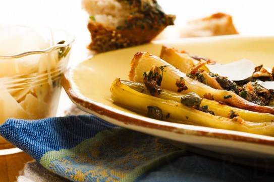 Braised Leeks with Meyer Lemon, Pancetta and Parmigiano Reggiano -50