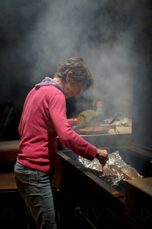 Monika proving that women make great barbecue.